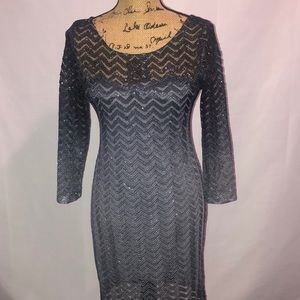 Gray Sparkly Morgan & Co Dress 11/12